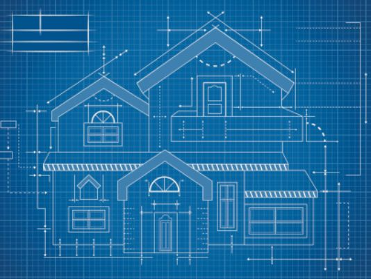 Blueprint of a house for WiFi or network coverage planning