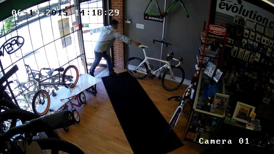 Business Security Camera - Bike Theft
