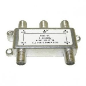 4-Way Splitter for TV Antennas
