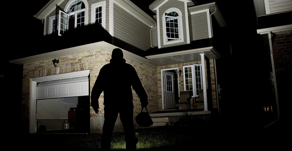 Security Camera Systems for Home - Image of Burglar in Dark