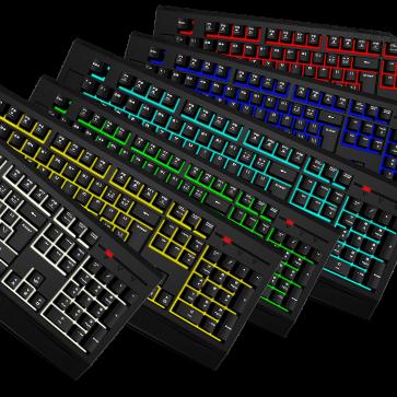keyboard mouse multi-colour combo